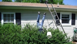 a terrible fall while performing your own 24 hour emergency roof repair